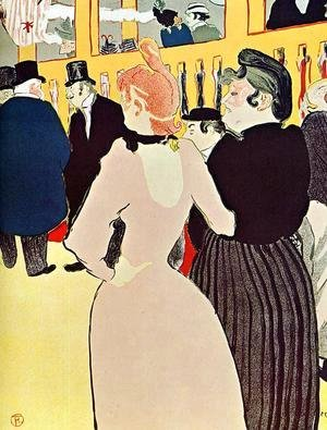 Toulouse-Lautrec - At the Moulin Rouge La Goulue with Her Sister 1892