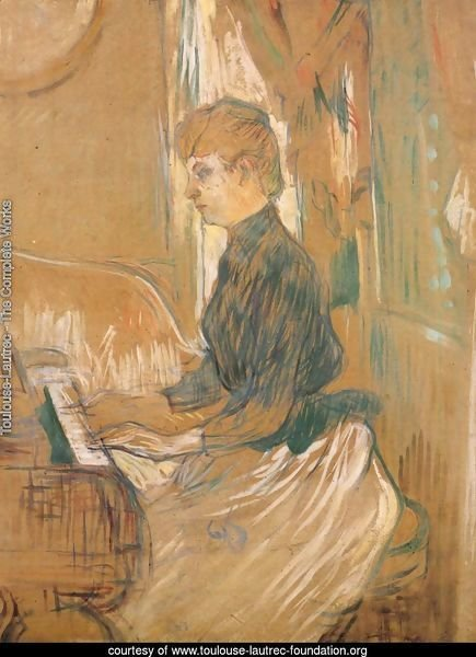 At the Piano Madame Juliette Pascal in the Drawing Room of the Chateau de Malrome 1896