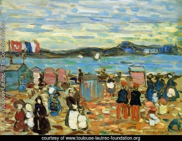 Bathing Tents, St. Malo 1907