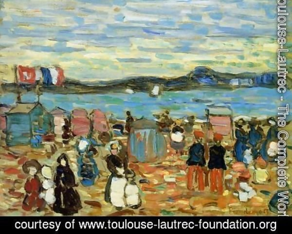 Toulouse-Lautrec - Bathing Tents, St. Malo 1907