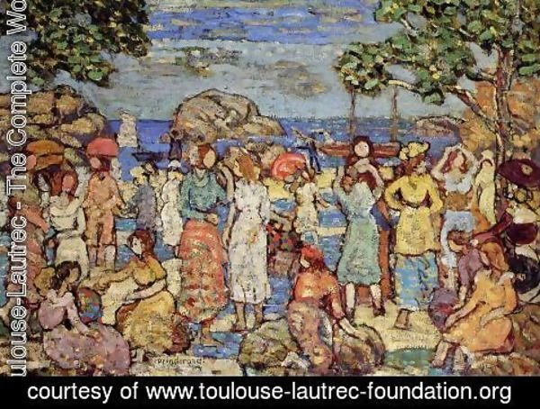 Toulouse-Lautrec - Beach at Gloucester 1918-1921