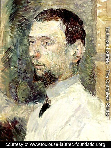 Toulouse-Lautrec - Portrait of the Painter Fran_ois Gauzi