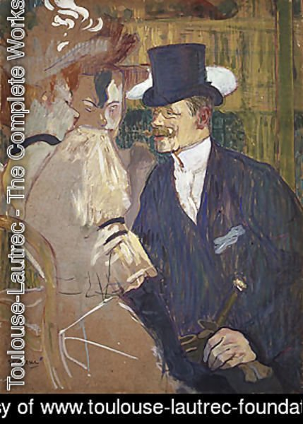 Toulouse-Lautrec - The Englishman (William Tom Warrener) at the Moulin Rouge 1892