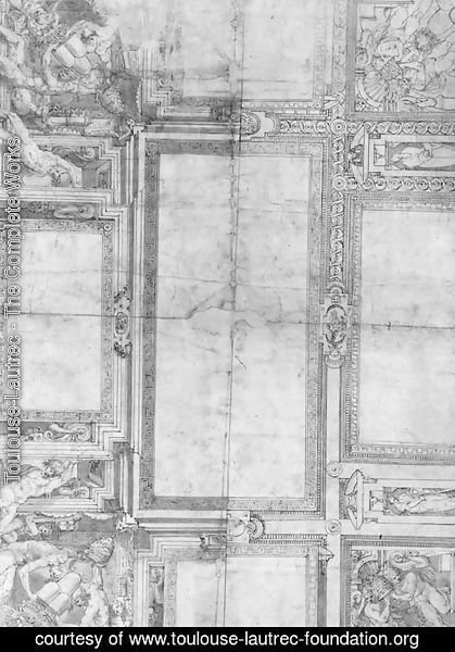 Alternative Designs for a Ceiling with Putti holding the Arms of Pope Julius III de Monte