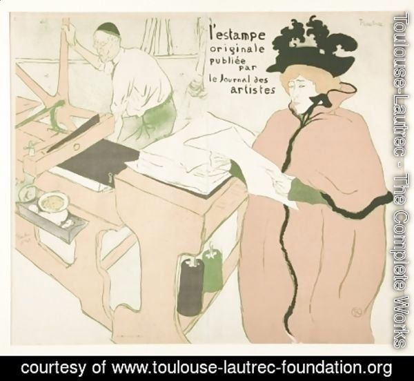 Toulouse-Lautrec - Couverture de L'Estampe originale
