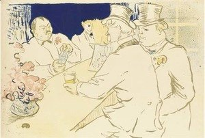 Toulouse-Lautrec - Irish and American Bar, Rue Royale - The Chap Book