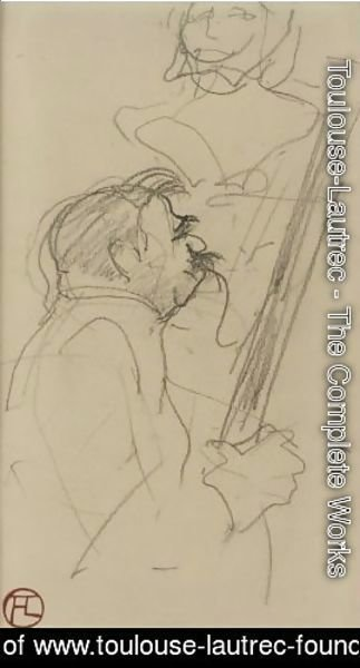 Toulouse-Lautrec - Buste Laure A Double Sided Drawing