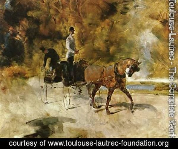 Toulouse-Lautrec - Dog-Car (Der Einspanner)
