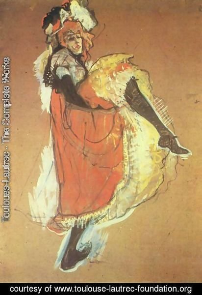 Toulouse-Lautrec - Jane Avril dancing, study for the poster