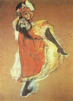 Jane Avril dancing, study for the poster