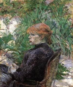 Toulouse-Lautrec - Red-Haired Girl in Monsieur Forest's Garden (Carmen Gaudin)