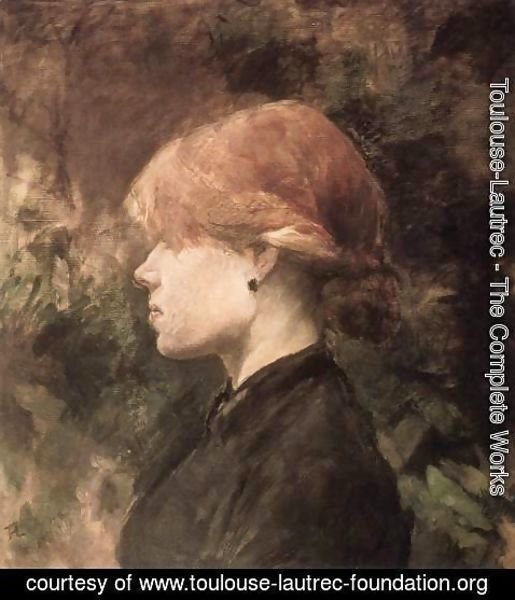 Toulouse-Lautrec - Young Woman with Red Hair