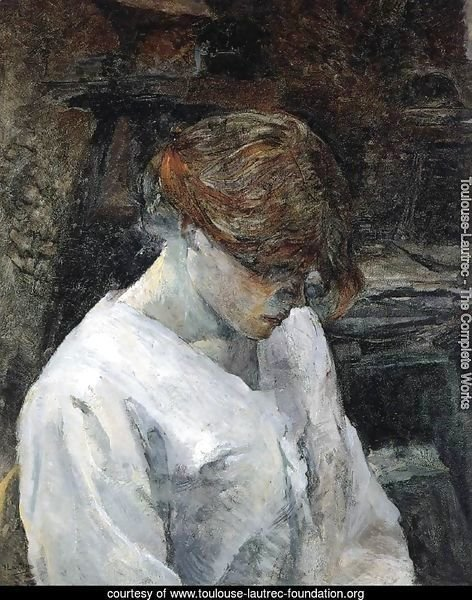 The Red-Head in a White Blouse