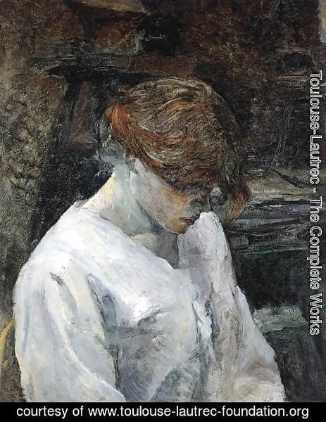 Toulouse-Lautrec - The Red-Head in a White Blouse