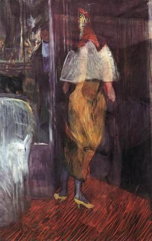 Toulouse-Lautrec - Woman in Evening Dress at the Door of a Theatre Box