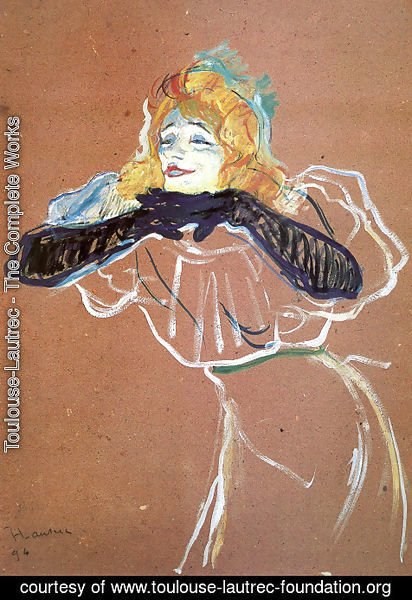 Toulouse-Lautrec - Yvette Guilbert Singing Linger, Longer, Loo