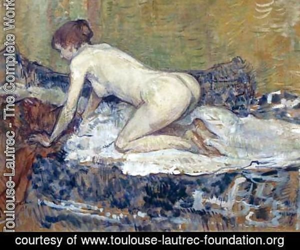 Toulouse-Lautrec - Red-Headed Nude Crouching