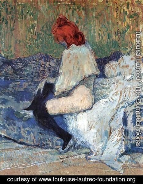 Toulouse-Lautrec - Red-Haired Woman on a Sofa