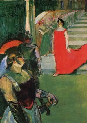 Toulouse-Lautrec - Messalina Descends the Stairs Lined by Female Figures
