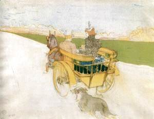 Toulouse-Lautrec - Joyride in the Country or The English Cart