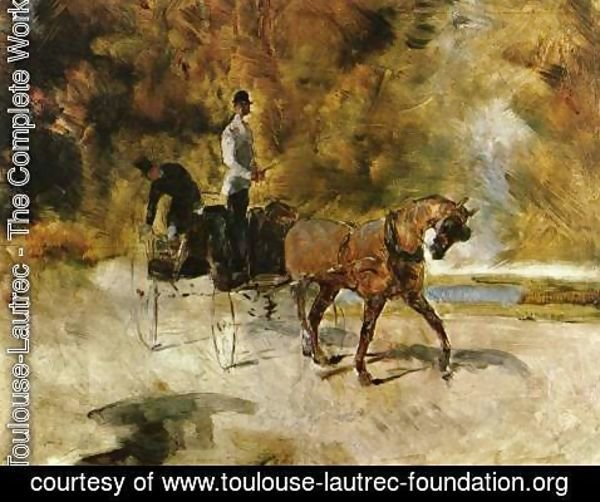 Toulouse-Lautrec - Dog Car