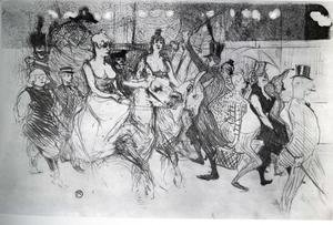 Toulouse-Lautrec - Gala at the Moulin Rouge