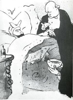 Toulouse-Lautrec - Carnot Malade Cannot Ill, a Song Sung at the Chat Noir