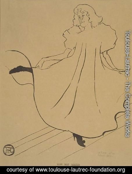 Toulouse-Lautrec - Miss May Milton, from Le Rire
