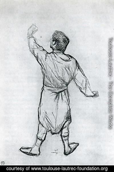 Man in a Shirt, From Behind