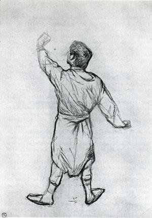 Toulouse-Lautrec - Man in a Shirt, From Behind