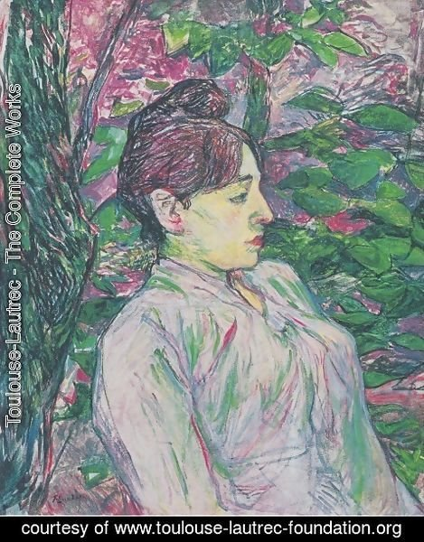 Toulouse-Lautrec - The Greens (Seated Woman in a Garden)