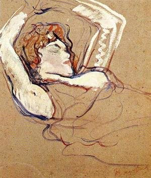 Toulouse-Lautrec - Woman Lying on Her Back, Both Arms Raised