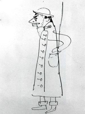 Toulouse-Lautrec - Self-Portrait. Caricature