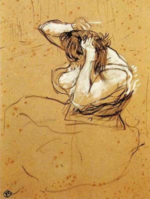 Toulouse-Lautrec - Woman Brushing Her Hair