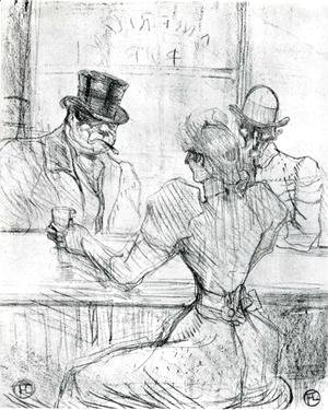 Toulouse-Lautrec - At the Bar Picton, Rue Scribe