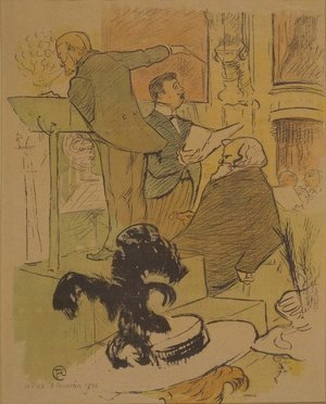 Toulouse-Lautrec - Ambroise Thomas assistant at a rehearsal of Francoise de Rimini