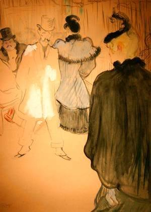 Toulouse-Lautrec - La Goulue and Paul Lescau