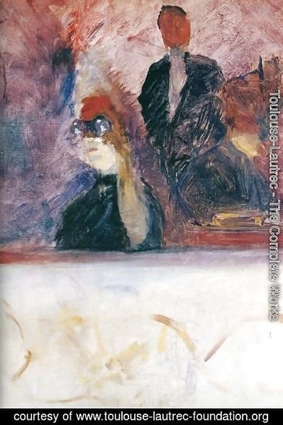 Toulouse-Lautrec - The Theater Box with the Gilded Mask
