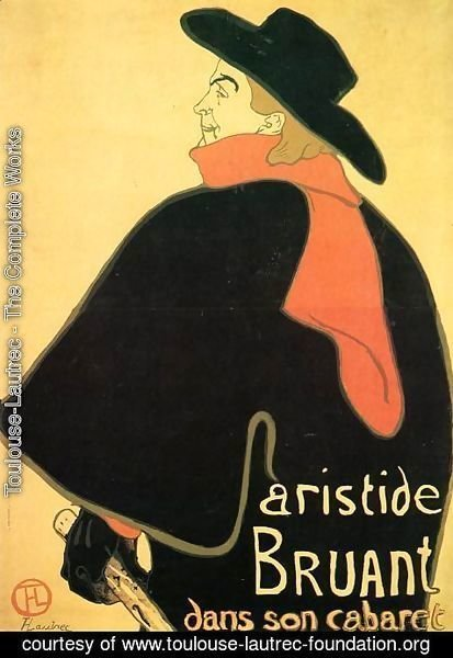 Toulouse-Lautrec - Aristede Bruand At His Cabaret