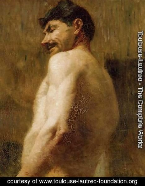 Toulouse-Lautrec - Bust Of A Nude Man