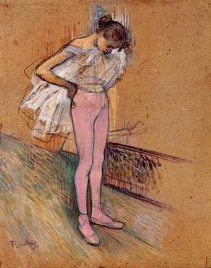 Toulouse-Lautrec - Dancer Adjusting Her Tights