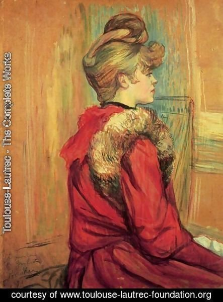 Toulouse-Lautrec - Girl In A Fur   Mademoiselle Jeanne Fontaine