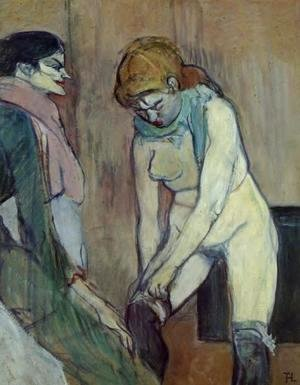 Toulouse-Lautrec - Woman Pulling Up Her Stocking