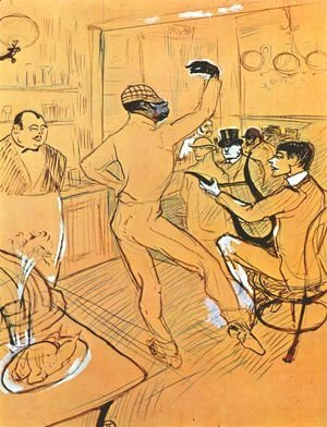Toulouse-Lautrec - Chocolat Dancing In Bar Darchille