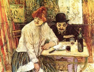 Toulouse-Lautrec - In The Restaurant La Mie