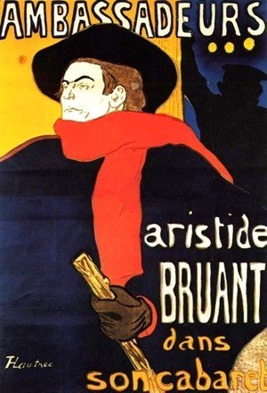 Toulouse-Lautrec - Aristide Bunting In His Cabaret