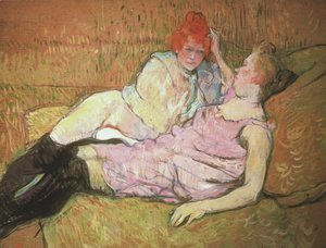 Toulouse-Lautrec - On The Sofa
