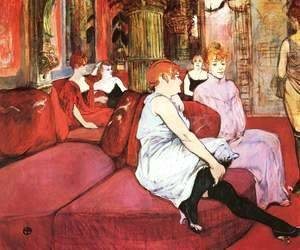 Toulouse-Lautrec - The Waitting Room In The Rue Of The Moulins