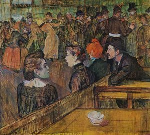 Toulouse-Lautrec - At the Moulin de la Galette 1889