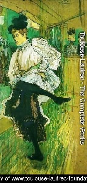 Toulouse-Lautrec - Jane Avril Dancing